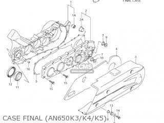 Suzuki AN650 BURGMAN 2003 (K3) USA (E03) parts lists and