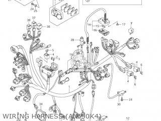 Suzuki AN650 BURGMAN 2004 (K4) USA (E03) parts lists and