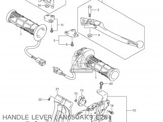Suzuki AN650 BURGMAN 2006 (K6) USA (E03) parts lists and