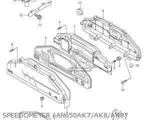 Suzuki AN650 BURGMAN 2007 (K7) USA (E03) parts lists and