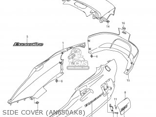 Suzuki AN650A BURGMAN 2009 (K9) USA (E03) parts lists and