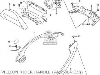Suzuki AN650Z BURGMAN 2014 (K4) USA (E03) parts lists and