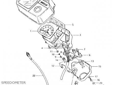 Suzuki Ax100 1994 (r) parts list partsmanual partsfiche