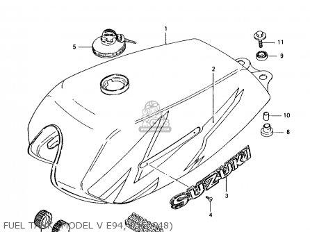 Suzuki Ax100 1996 (t) parts list partsmanual partsfiche