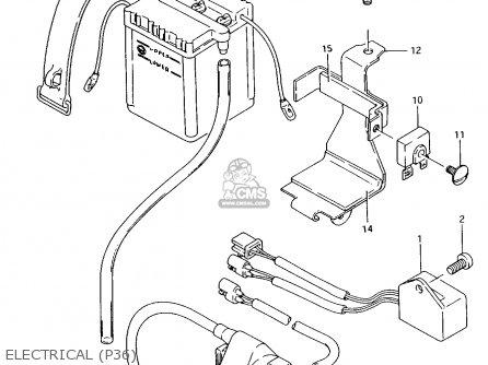 Suzuki Ax100 1997 (v) Barbados (e94) / P36 P48 parts list
