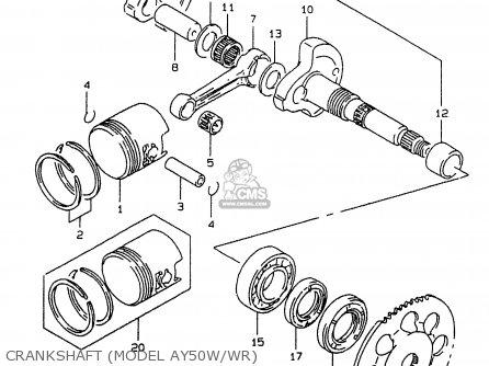 Suzuki Ay50 1998 (w) parts list partsmanual partsfiche