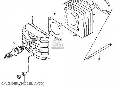 Suzuki AY50 1999 (X) parts lists and schematics