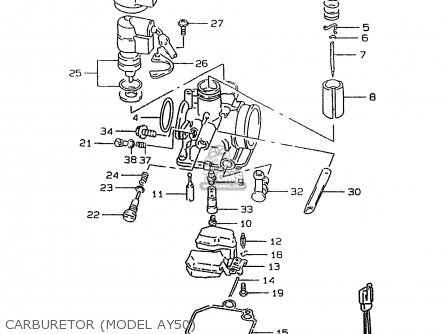 Suzuki AY50W 1999 (X) parts lists and schematics