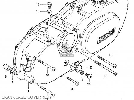 Suzuki Cs125 1983 (d) parts list partsmanual partsfiche