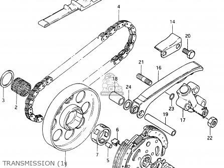 Suzuki Cs125 1983 (d) parts list partsmanual partsfiche