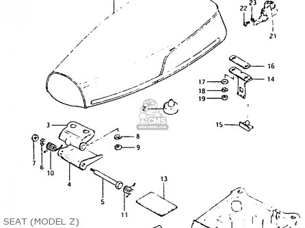 Suzuki Cs50 1982 (z) parts list partsmanual partsfiche