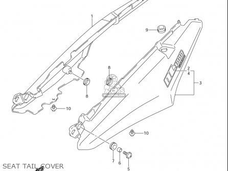 Suzuki Dl1000 (usa) parts list partsmanual partsfiche
