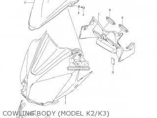 Suzuki Dl1000 Vstrom 2002 (k2) Usa (e03) parts list