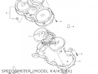 Suzuki DL1000 VSTROM 2004 (K4) USA (E03) parts lists and