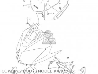 Suzuki DL1000 VSTROM 2006 (K6) USA (E03) parts lists and