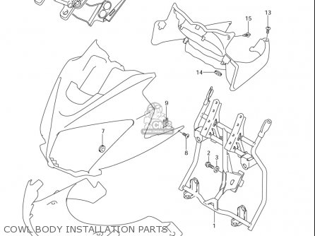 Suzuki Dl650 Vstrom 2004-2006 (usa) parts list partsmanual