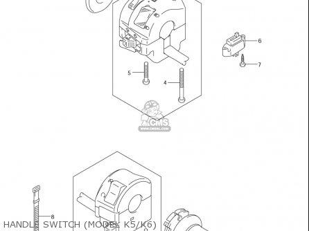 Suzuki Dl650 Vstrom 2004-2006 (usa) parts list partsmanual