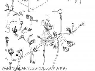 Suzuki DL650 VSTROM 2008 (K8) USA (E03) parts lists and