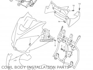 Suzuki Dl650 Vstrom 2009 (k9) Usa (e03) parts list