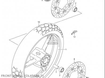 Suzuki Dl650 ,a (usa) parts list partsmanual partsfiche