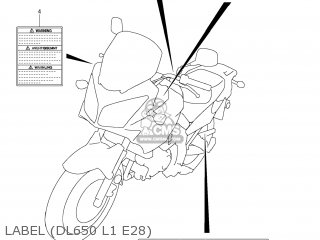 Suzuki DL650A VSTROM 2011 (L1) USA (E03) parts lists and
