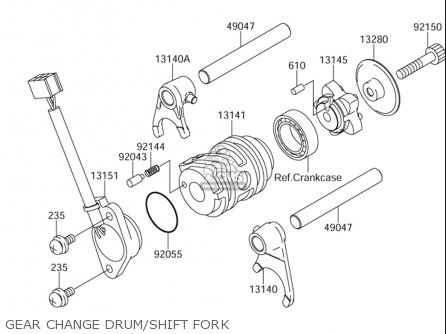 Suzuki Dr-z110 2003-2005 (usa) parts list partsmanual