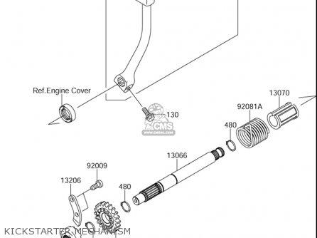 Suzuki Dr-z110 2003-2005 (usa) parts list partsmanual
