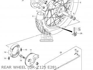 Suzuki Dr-z125 2012 (l2) Usa (e03) Drz125 Dr Z125 parts