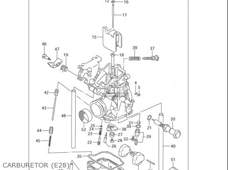 Suzuki Dr-z250 (usa) parts list partsmanual partsfiche