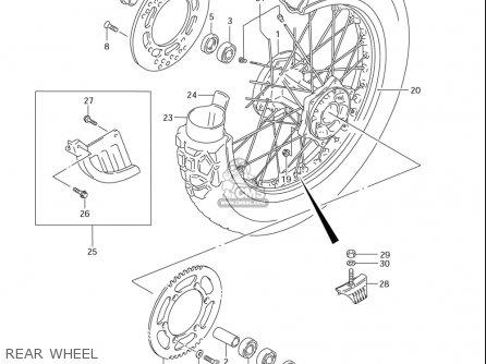 Suzuki Dr-z250 (usa) parts list partsmanual partsfiche