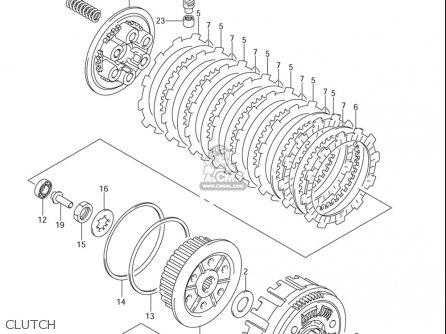 Suzuki Dr-z400 E 2005-2006 (usa) parts list partsmanual