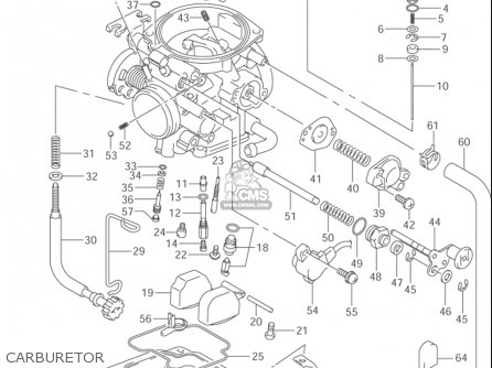 Suzuki Dr-z400 S 2000-2004 (usa) parts list partsmanual