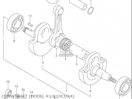 Suzuki Dr-z400 ,e 2000-2004 (usa) parts list partsmanual