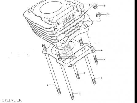 Suzuki Dr100 1985-1990 (usa) parts list partsmanual partsfiche