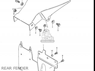 Suzuki Dr100 1985 (f) Usa (e03) parts list partsmanual