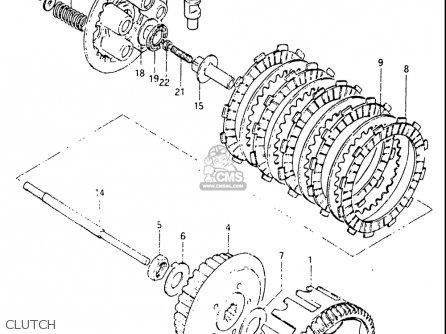 Suzuki Dr125 1982-1983 (usa) parts list partsmanual partsfiche