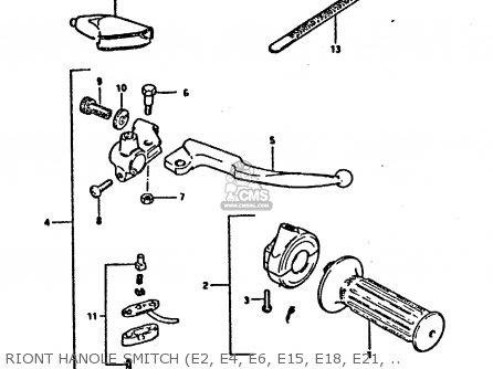 Suzuki Dr125 1984 (se) parts list partsmanual partsfiche
