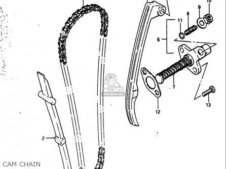 Suzuki Dr125 1984 (usa) parts list partsmanual partsfiche