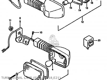 Suzuki Dr125 1985 (sf) parts list partsmanual partsfiche
