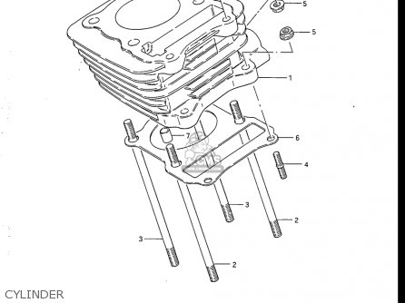 Suzuki Dr125 1986-1988 (usa) parts list partsmanual partsfiche