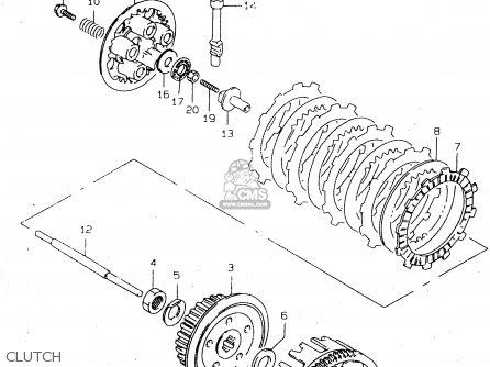 Suzuki Dr125 1998 (seuw) parts list partsmanual partsfiche