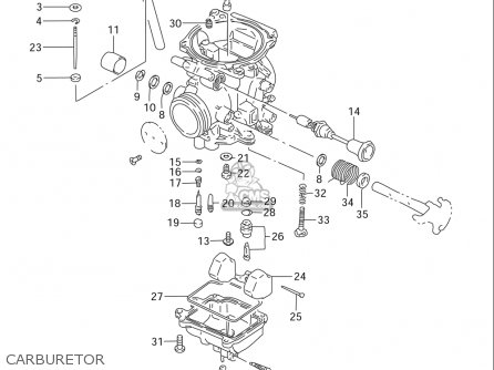 Suzuki Dr125 Se 1994-1996 (usa) parts list partsmanual