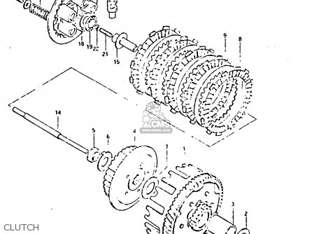 Suzuki Dr125s 1982 (z) parts list partsmanual partsfiche