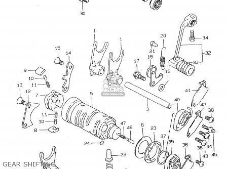 Suzuki DR125SE 1998 (W) (E04 E18 E22 E34) parts lists and