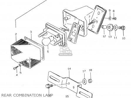 Suzuki DR125SE 2000 (Y) parts lists and schematics