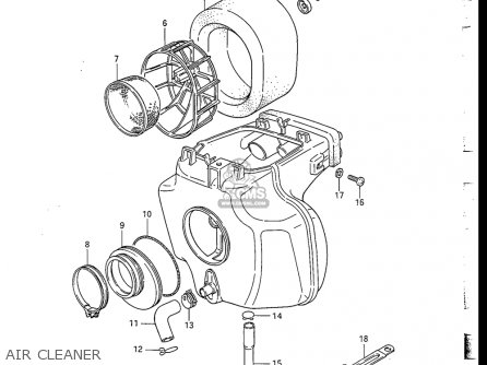 Suzuki Dr200 1986-1988 (usa) parts list partsmanual partsfiche