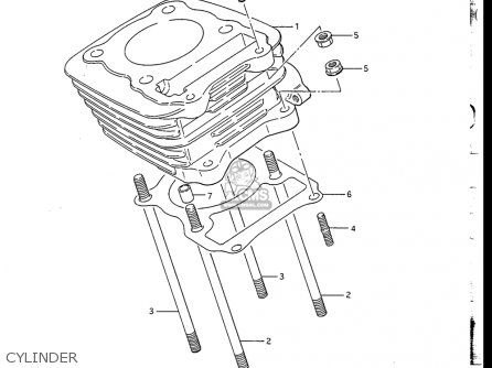 Suzuki Dr200 1986-1988 (usa) parts list partsmanual partsfiche