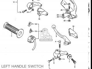 Suzuki DR200 1986 (G) USA (E03) parts lists and schematics