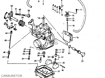 Suzuki DR200 1987 (H) parts lists and schematics