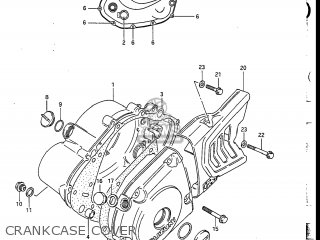 Suzuki Dr200 1987 (h) Usa (e03) parts list partsmanual